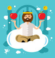 paradise concept god in heaven flat style vector image vector image