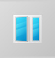 plastic window with blue bright glass icon vector image vector image