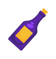 purple colored bottle vector image