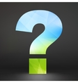 Question mark Ecology icon vector image