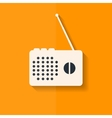 Radio web icon Flat design vector image