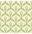 Repeating floral linear seamless pattern vector image vector image