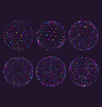 science atom spheres dots orbs or particles orbit vector image
