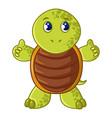 sea turtle icon cartoon style vector image