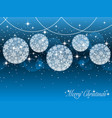 seamless background with christmas ornaments vector image