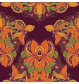 seamless exotic flower pattern vector image