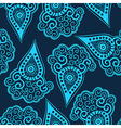 Seamless paisley texture for your design vector image vector image