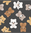 Seamless pattern cute teddy bear for use as