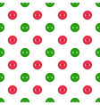 seamless pattern with green abd red buttons vector image vector image