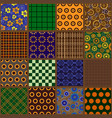 seamless patterns 17 in 1 vector image
