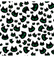 seamless texture with black cats vector image vector image