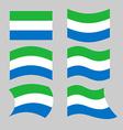 Sierra Leone flag Set flags Siera Leones Republic vector image