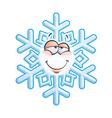 SnowFlake Emoticon In Love vector image vector image