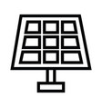 solar panel icon in flat style isolated on grey vector image