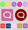 Speech bubble icons Think cloud symbols 12 colored vector image