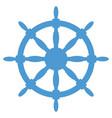 steering wheel silhouette vector image vector image