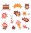 stickers of sweets vector image vector image