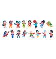 superhero boys and girls characters cartoon kids vector image vector image