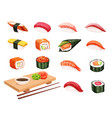 sushi and rolls vector image vector image