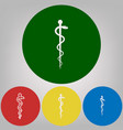symbol of the medicine 4 white styles of vector image vector image