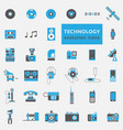 technology evolution icon set vector image