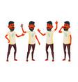teen boy poses set indian hindu asian vector image vector image