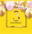 template 3 years anniversary background with vector image