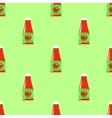 Tomato Ketchup Seamless Pattern vector image