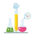 tube and chemistry experiment vector image vector image
