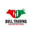 two heads and bear logo trading business vector image vector image