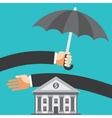 Umbrella protecting savings vector image vector image