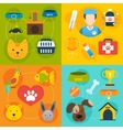 Veterinary icons set flat vector image vector image