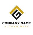 vg gl lg company group logo concept idea vector image