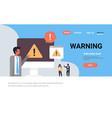 warning concept danger piracy error background vector image