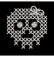 with the image of knit woven vector image vector image