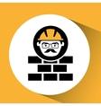 bricks man worker construction design icon vector image