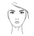 Beautiful woman portrait hand drawn vector image