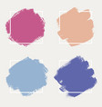 a set abstract backgrounds ink brush strokes vector image vector image