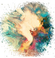 abstract art background with watercolour texture vector image vector image