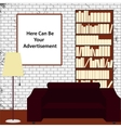 Advertising interior office vector image vector image