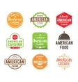 American cuisine label vector image