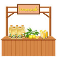 an isolated lemonade stall vector image vector image