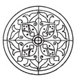 arabian circular panel is a 16th century design vector image vector image