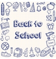 Back to school hand drawn doodles background vector image