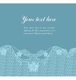 blue vintage lacy border vector image