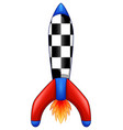 cartoon space rocket isolated white background vector image vector image
