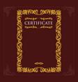 certificate engraving vintage baroque vector image vector image