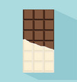 chocolate bar with long shadow vector image vector image