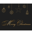 Christmas decoration and gift box vector image