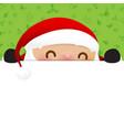 christmas snowman santa claus cartoon smile on vector image vector image